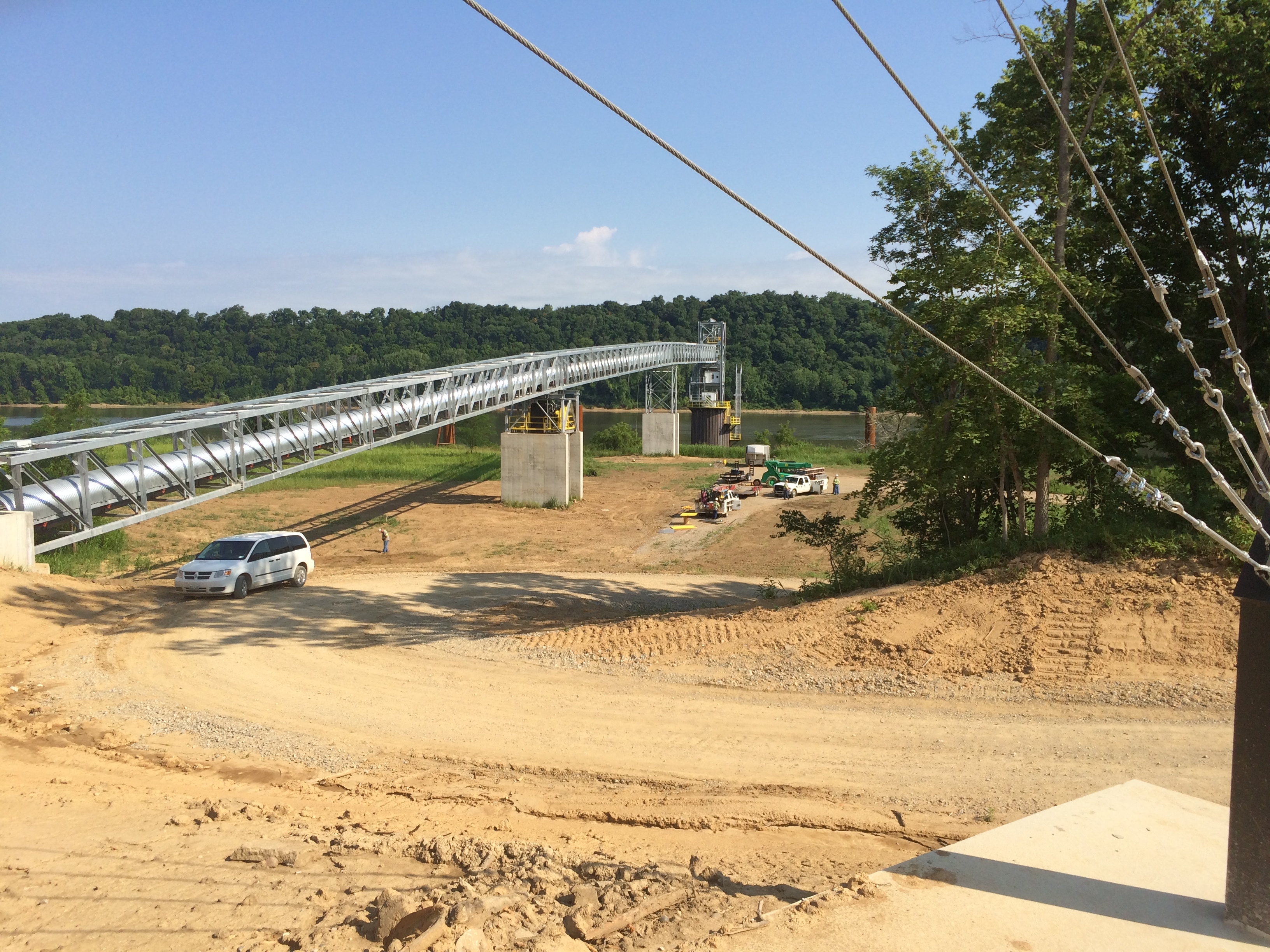 Concrete Layout Grain Conveyor Land Surveyor – Jason Graves Land